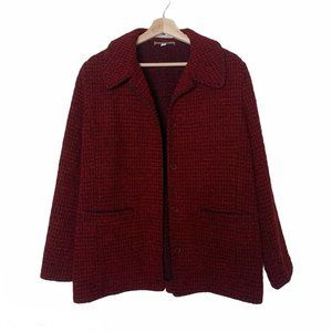 Isabella Bird Made In Italy Wool Blend Red Coat